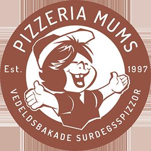 Nya Pizzeria Mums har öppnat! Logo